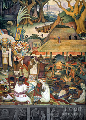 Realism Photograph - Rivera: Pre-columbian Life by Granger