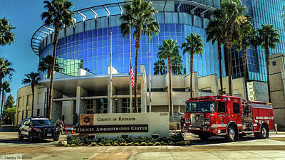Photograph - Riverside County Public Safety by Tommy Anderson