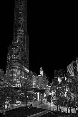Riverwalk Photograph - Riverwalk And Trump Tower - Chicago by Daniel Hagerman