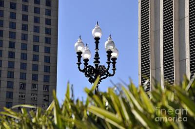 Riverwalk Photograph - Riverwalk Lamp by Andrew Dinh