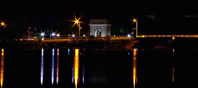 Rmc Memorial Arch At Night Print by Paul Wash