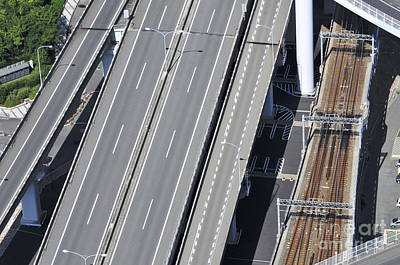 Japan Photograph - Road And Rail Intersection by Andy Smy