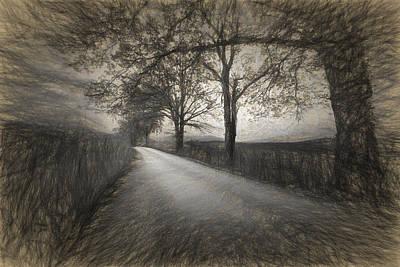 Road Not Traveled Iv Print by Jon Glaser