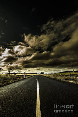 Road Of Coming Darkness Print by Jorgo Photography - Wall Art Gallery
