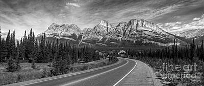 Roads Photograph - Road To Bow Summit by Serge Chriqui