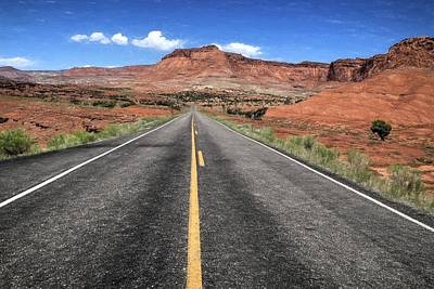 Road To Capital Reef N P Print by Donna Kennedy