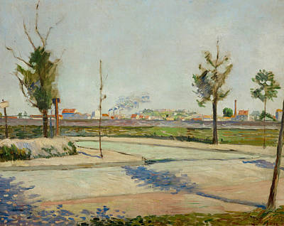 Pointillist Painting - Road To Gennevilliers by Paul Signac