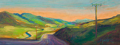 Road Painting - Road To Horse Tooth by Athena  Mantle