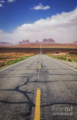 Road To Monument Valley Print by Joan McCool