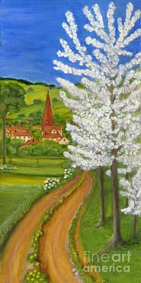 Polskie Obrazy Painting - Road To Schollkrippen by Anna Folkartanna Maciejewska-Dyba