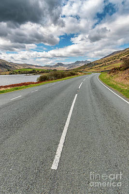 Road To Snowdon Print by Adrian Evans