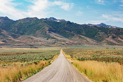 Sage Brush Photograph - Road To The Rubies by Todd Klassy