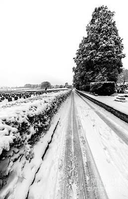 Snow Digital Art - Road To Winter by Adrian Evans