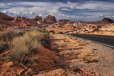 Road - Valley Of Fire - Nevada Print by Nikolyn McDonald