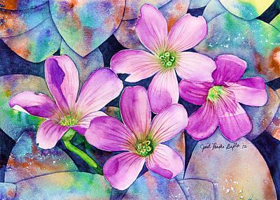 Roadside Flowers Painting Print by Janet Pancho Gupta