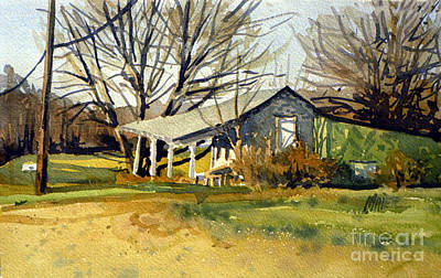 Fruit Stand Painting - Roadside Stand by Donald Maier