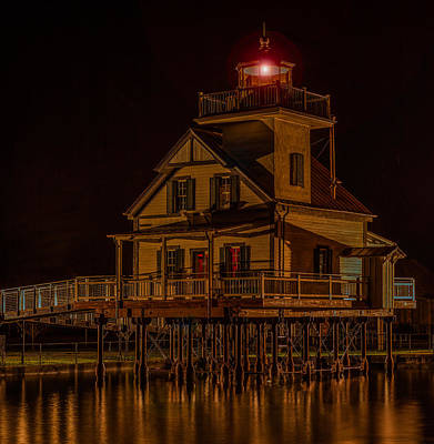 Roanoke River Light Print by Capt Gerry Hare