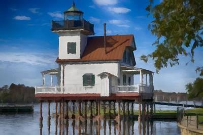 Photograph - Roanoke River Lighthouse North Carolina  by David Dehner