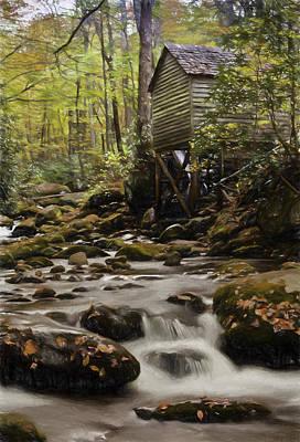 Grist Mill Digital Art - Roaring Fork Grist Mill by Jonas Wingfield