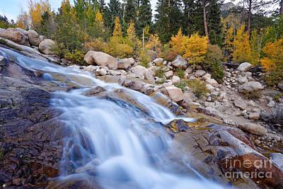 Roaring River Waterfalls At Alluvial Fan - Rocky Mountain National Park - Estes Park Colorado Print by Silvio Ligutti