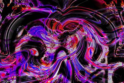 Imagination Digital Art - Roaring Skull Of Grief by Abstract Angel Artist Stephen K