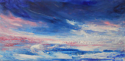 Thunder Painting - Roaring Waves by Jane See