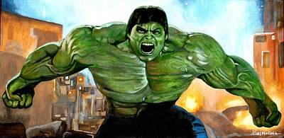 Comic Books Painting - Roarrrrrrr by Al  Molina