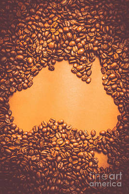 Identity Photograph - Roasted Australian Coffee Beans Background by Jorgo Photography - Wall Art Gallery