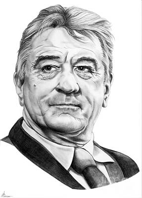 Famous People Drawing - Robert Deniro by Murphy Elliott