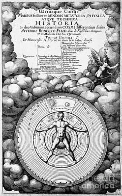 Robert Fludds Book On Metaphysics, 1617 Print by Wellcome Images