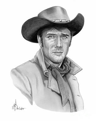 Famous People Drawing - Robert Fuller-jess Harper by Murphy Elliott