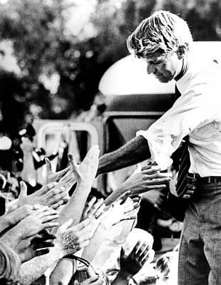 Robert Kennedy Shaking Hands Print by Everett