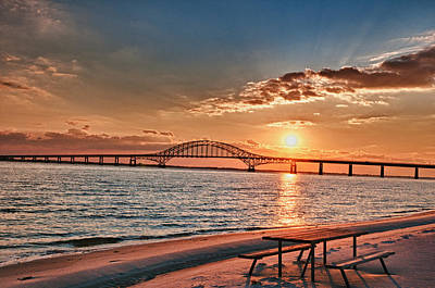 Bay Photograph - Robert Moses Bridge  by Linda Pulvermacher