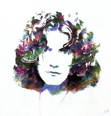 Painting - Robert Plant  01 by Sergey Lukashin