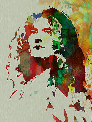 Watercolor Painting - Robert Plant by Naxart Studio