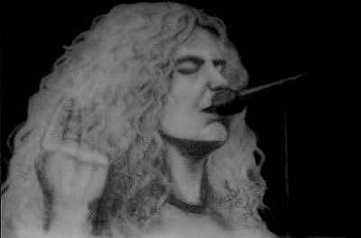 Robert Plant Drawing - Robert Plant by Janet Gioffre Harrington