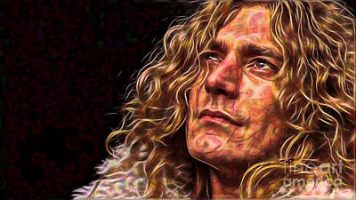 Led Zeppelin Mixed Media - Robert Plant Led Zeppelin by Marvin Blaine