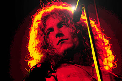 Robert Plant Digital Art - Robert Plant by Martin James