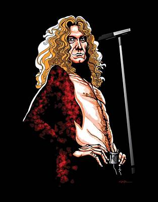 Robert Plant Digital Art - Robert Plant Of Led Zeppelin by GOP Art