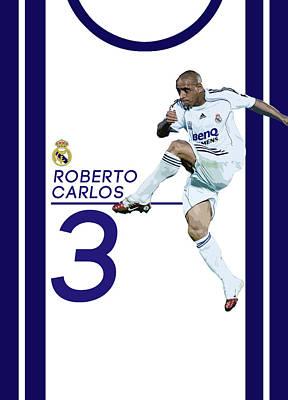 Cristiano Ronaldo Digital Art - Roberto Carlos by Semih Yurdabak