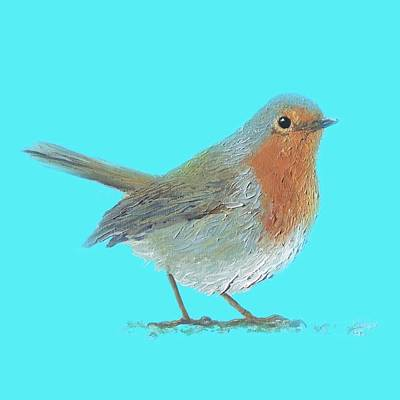 Country Cottage Painting - Robin Bird by Jan Matson