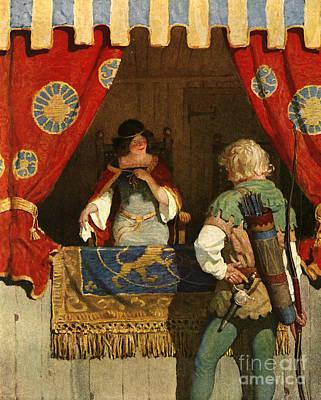 Robin Hood Meets Maid Marian Print by Newell Convers Wyeth