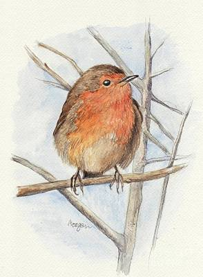Robin Mixed Media - Robin by Morgan Fitzsimons