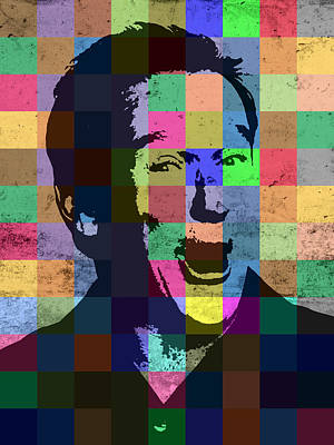 Robin Mixed Media - Robin Williams Actor Hollywood Pop Art Patchwork Portrait Pop Of Color by Design Turnpike
