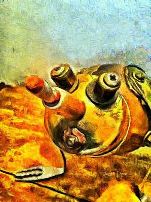 Ceramic Painting - Robot Bug by Leonardo Digenio