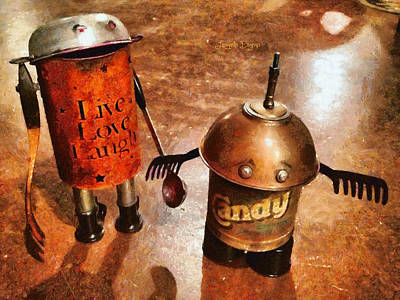 Forks Digital Art - Robot Kids - Da by Leonardo Digenio