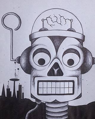 Electronic Drawing - Robot by Noah Babcock