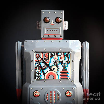 Robot R-1 Square Print by Edward Fielding
