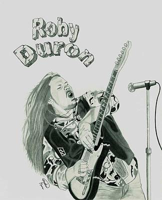 Music Drawing - Roby Duron Band by Matthew Moore