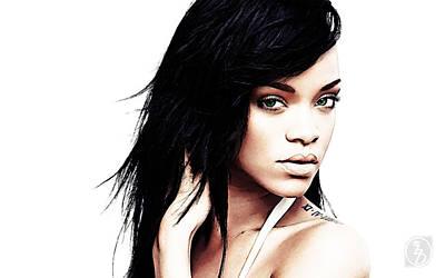 Rihanna Digital Art - Robyn Rihanna Fenty by The DigArtisT